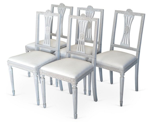 Swedish Dining Chairs, S/5