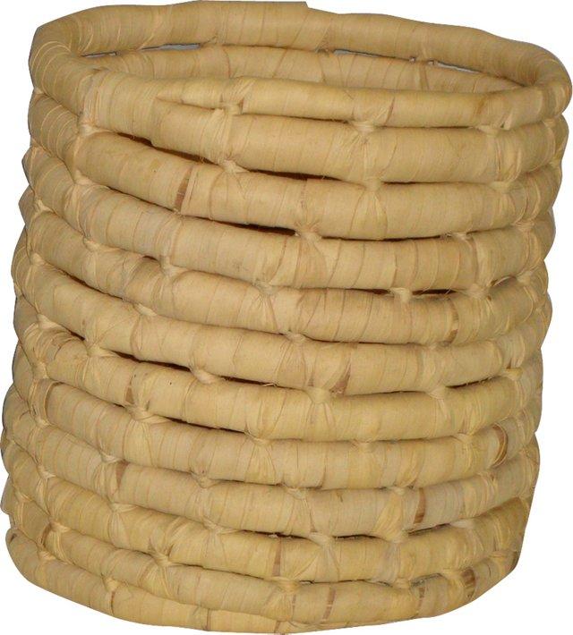 Handwoven Corn Husk Basket