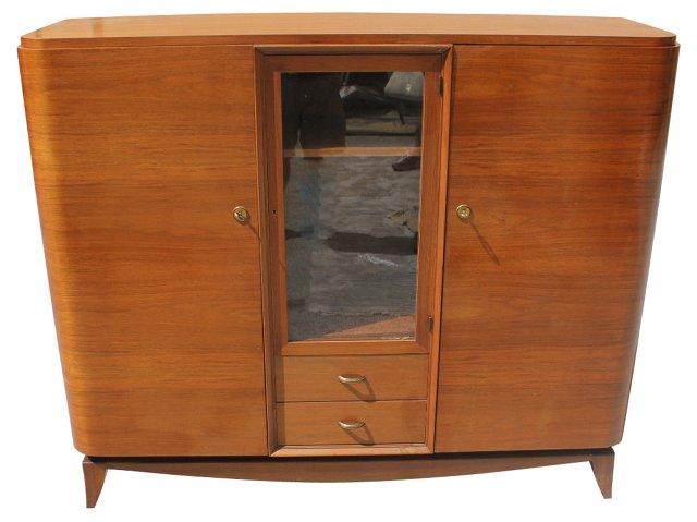 French Art Deco   Mahogany Bookcase