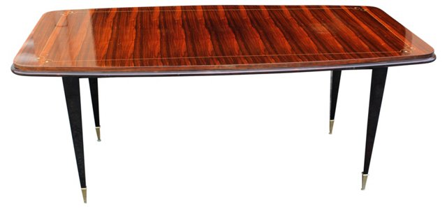 French Deco  Macassar Ebony Dining Table
