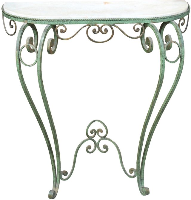 French Art Deco Iron Console, C. 1940