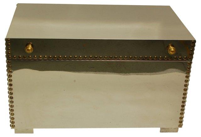 Brass-Studded Chrome-Plated Trunk