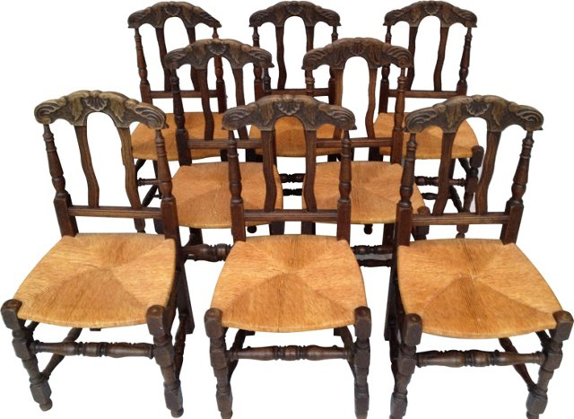 French  Chairs, Set of 8