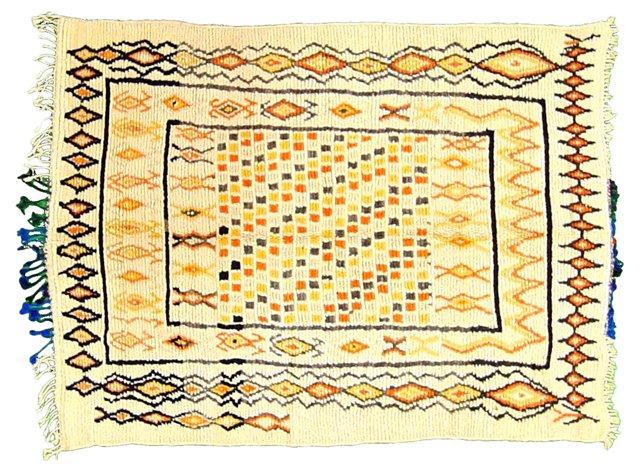 "Moroccan Rug, 6'2"" x 4'10"""