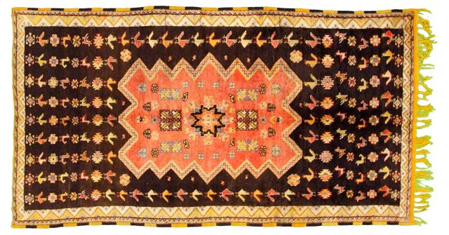 "Moroccan Rug, 10'3"" x 5'8"""