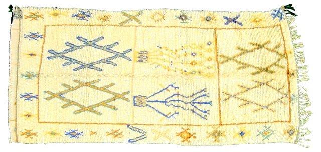 "Tribal Moroccan Rug, 7'8"" x 3'9"""