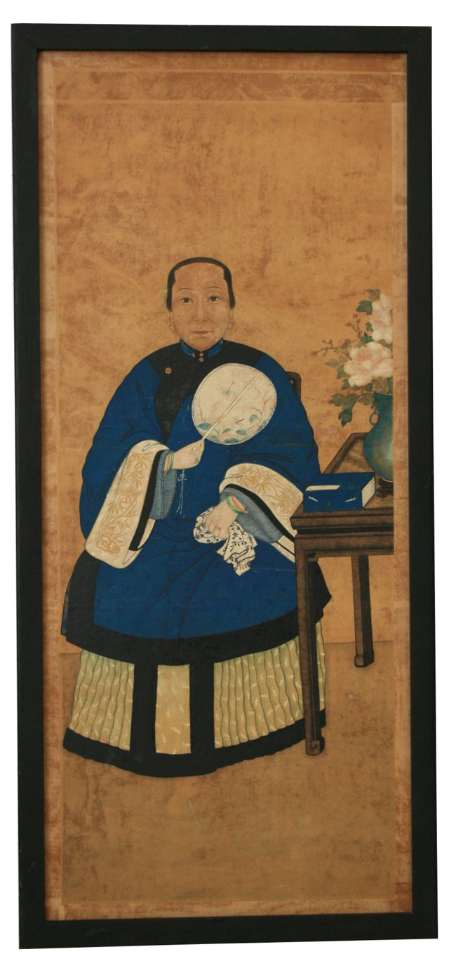 Antique Chinese Ancestoral Portrait