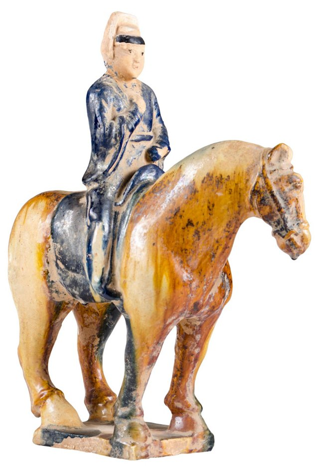 Tang-Style Horse w/ Rider