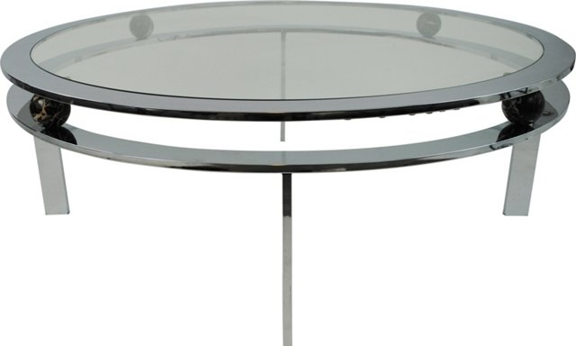 Round Chrome Coffee Table