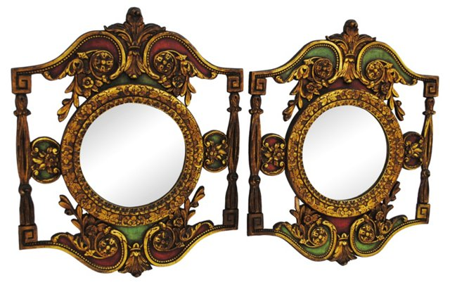 Ornate Mirrors, Pair