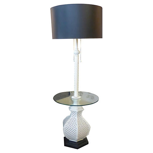 Floor Lamp with Glass Table