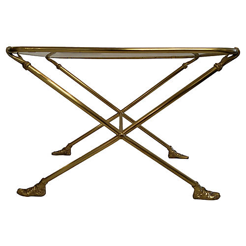 Hand & Foot Brass Side Table