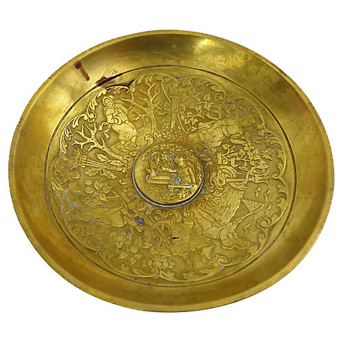 Cast Brass Footed Dish