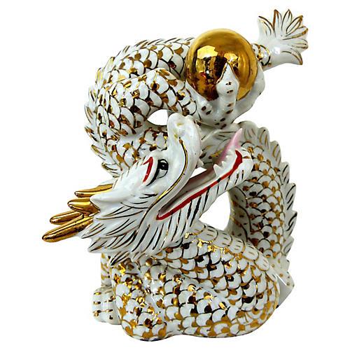 Porcelain Gold Dragon