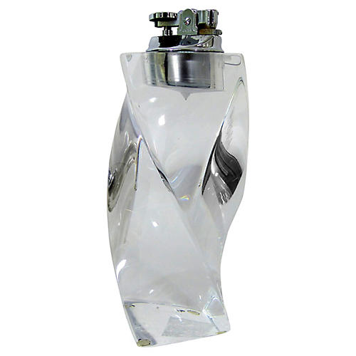 Lucite Twisted Column Lighter