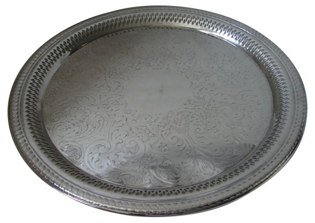 Pierced & Engraved Round Tray