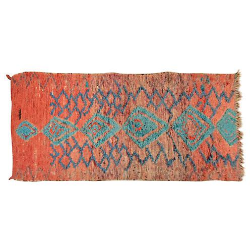 "Moroccan Rug, 4' x 9'6"""