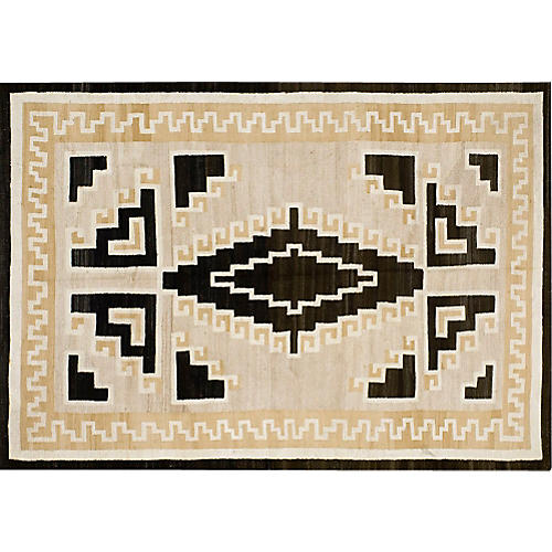 "Navajo-Style Rug, 5'4"" x 7'10"""