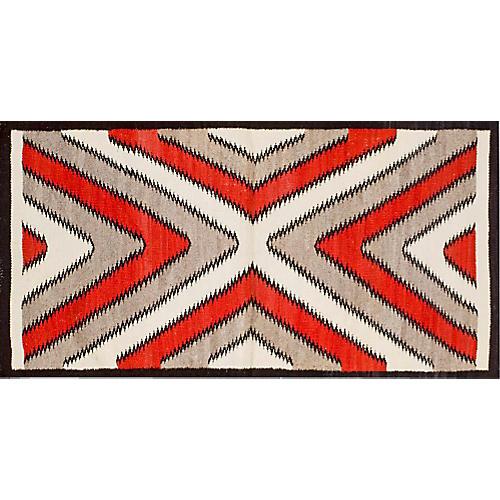 "Navajo Style Rug, 2'7"" x 5'0"""