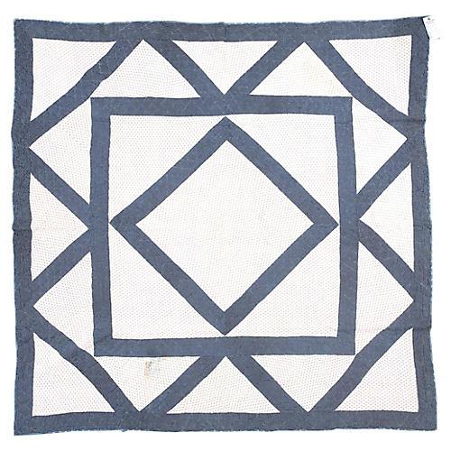 "Geometric Quilt, 6'1"" x 6'3"""
