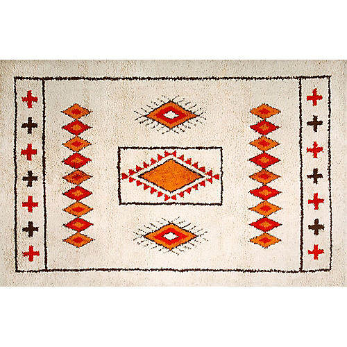 "Moroccan Rug, 6'8"" x 10'"