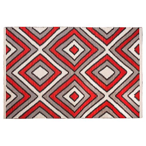 Navajo-Style Flat-Weave Rug, 8' x 10'