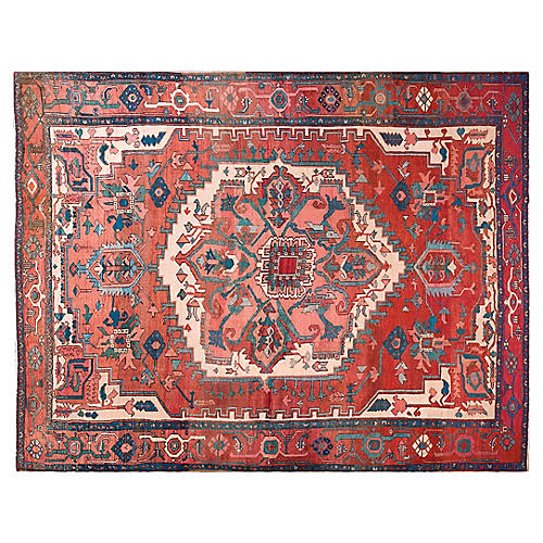 "Antique Serapi Rug 12'6"" x 9'8"""