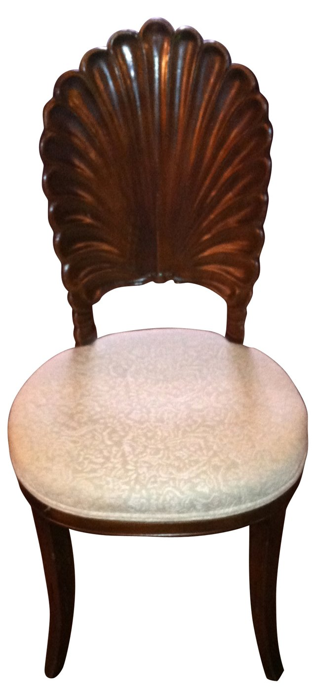 Carved Mahogany Shell-Back Side Chair