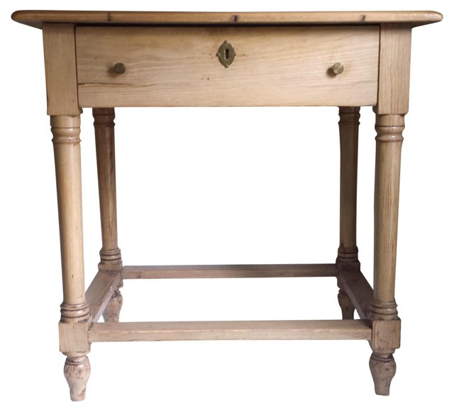 Antique English Pine Table w/ Drawer