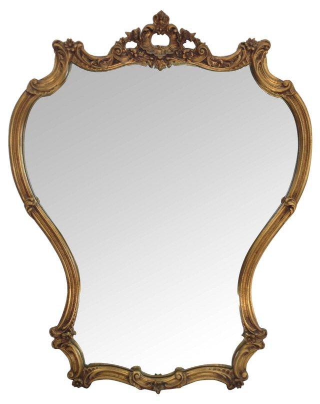 Gold Scroll Mirror