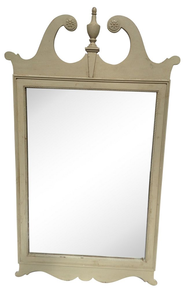 Gray Federal-Style Mirror