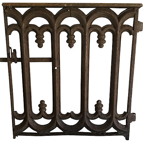 Antique French Iron Gate