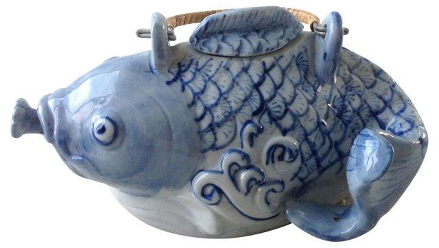 Chinoiserie Fish Teapot