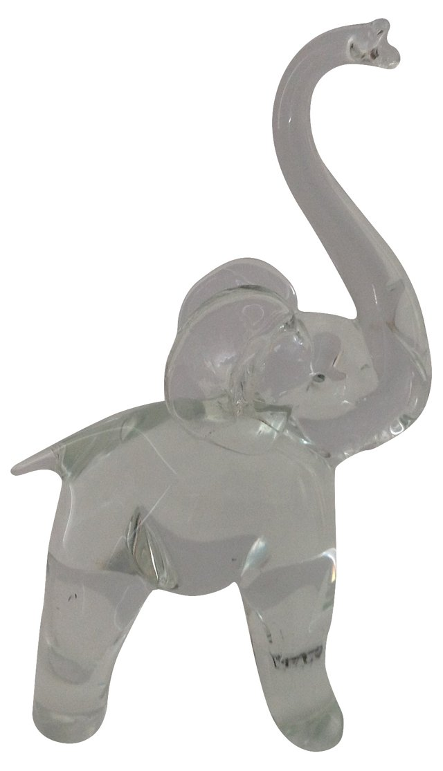 Crystal Elephant Paper Weight