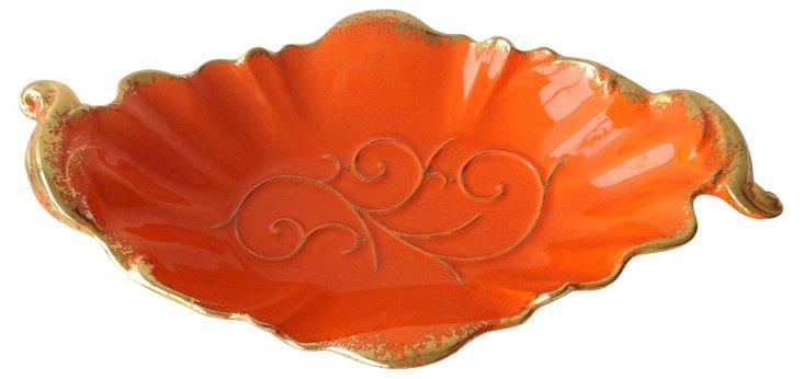 Midcentury Ceramic Orange Centerpiece
