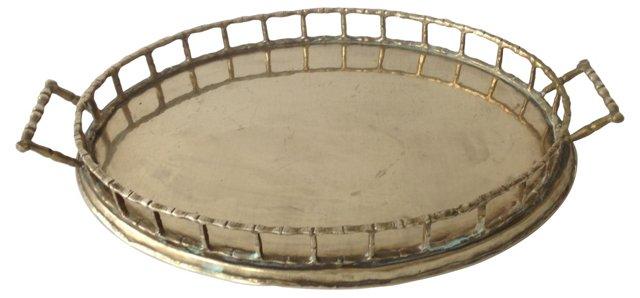 Brass Bamboo-Style Tray