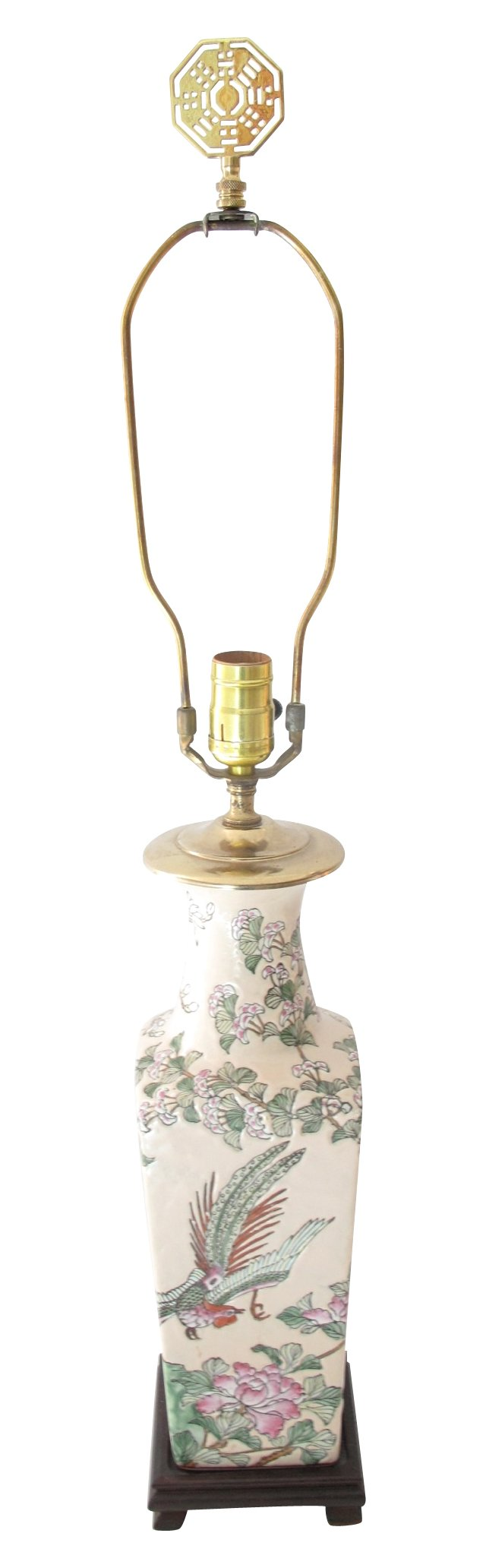 Chinoserie  Peacock  Lamp