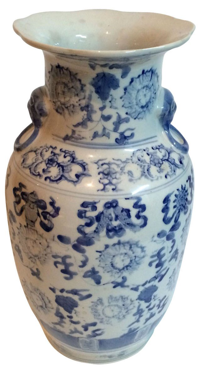 Chinese Jar w/ Foo Dog Handles