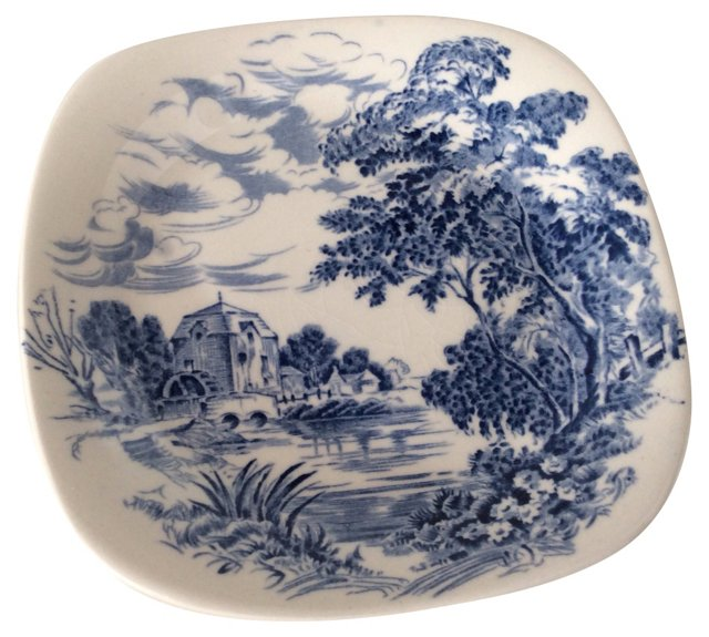 Staffordshire Blue & White Catchall