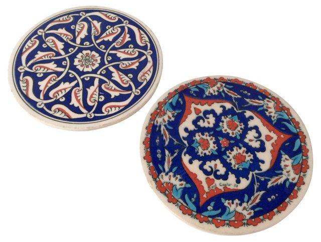 Grand Caglar  Paisley Tiles, Pair