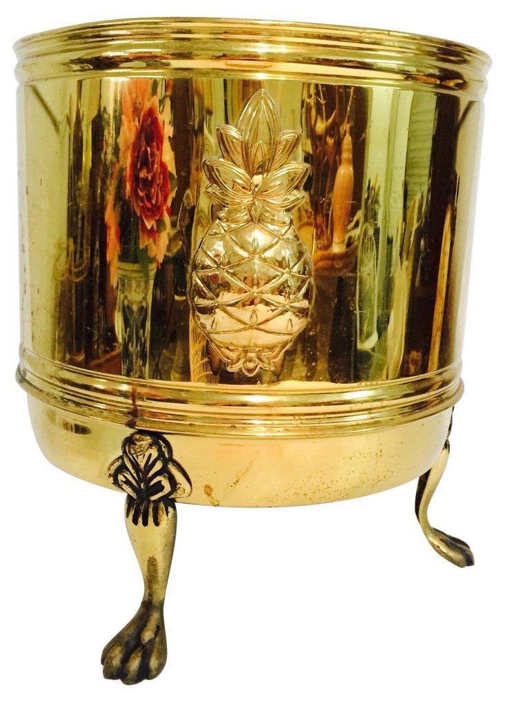 Brass Pineapple Cachepot