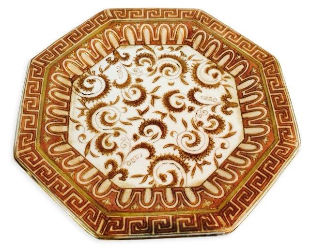 Greek Key Octagonal Wall Plate