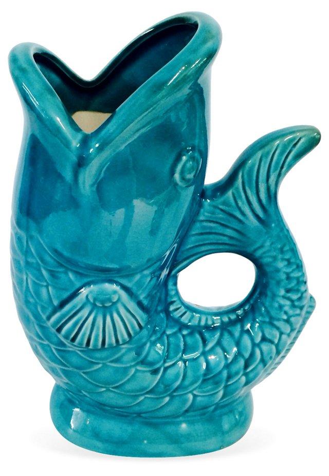 Turquoise      Gurgle Pitcher