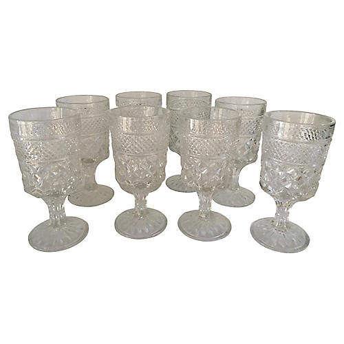 Pressed Glass Coupes, S/8