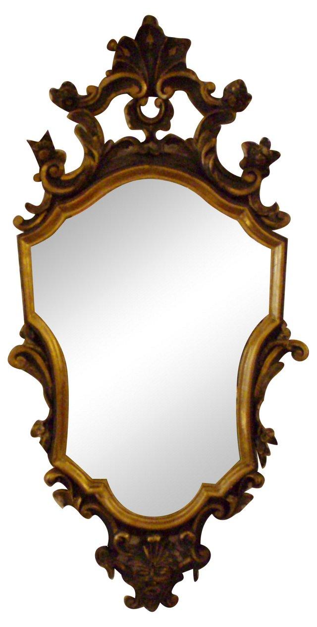Antique Venetian Wood Mirror