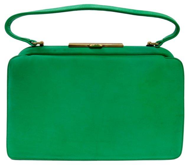 Kelly Green Suede Handbag