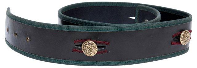 Tyrolean Chocolate Leather Belt