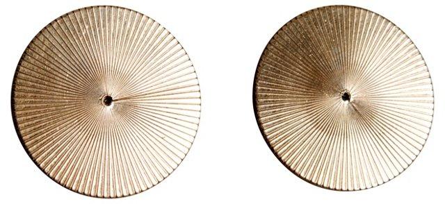 Gold-Filled Disc Earrings