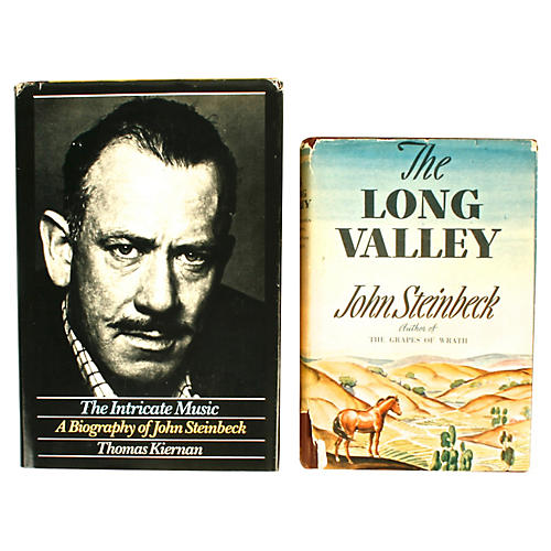 Steinbeck's Long Valley & Bio, Signed