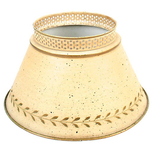 Speckled Ivory Tole Lampshade